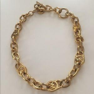 Michael Kors Couture Gold Toggle Chain Necklace